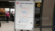 'Together we stand': London Bridge Tube station shows solidarity after terror attack