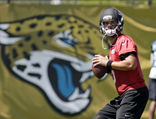 Blake Bortles slumped in 2016 and the Jaguars went with him. (AP)