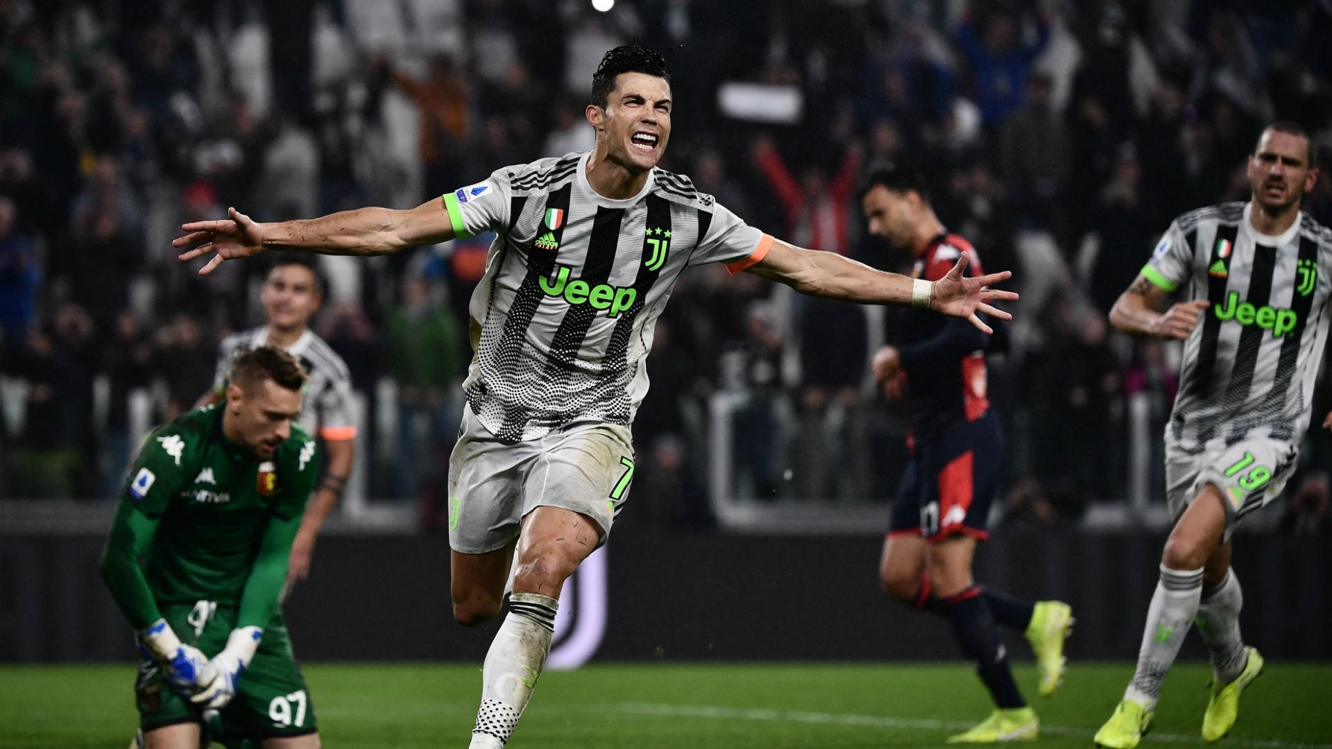 Juventus 2 1 Genoa Ronaldo Penalty Gives 10 Man Champions Late Winner