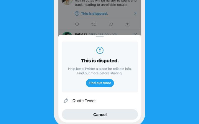 Twitter misleading tweet prompt