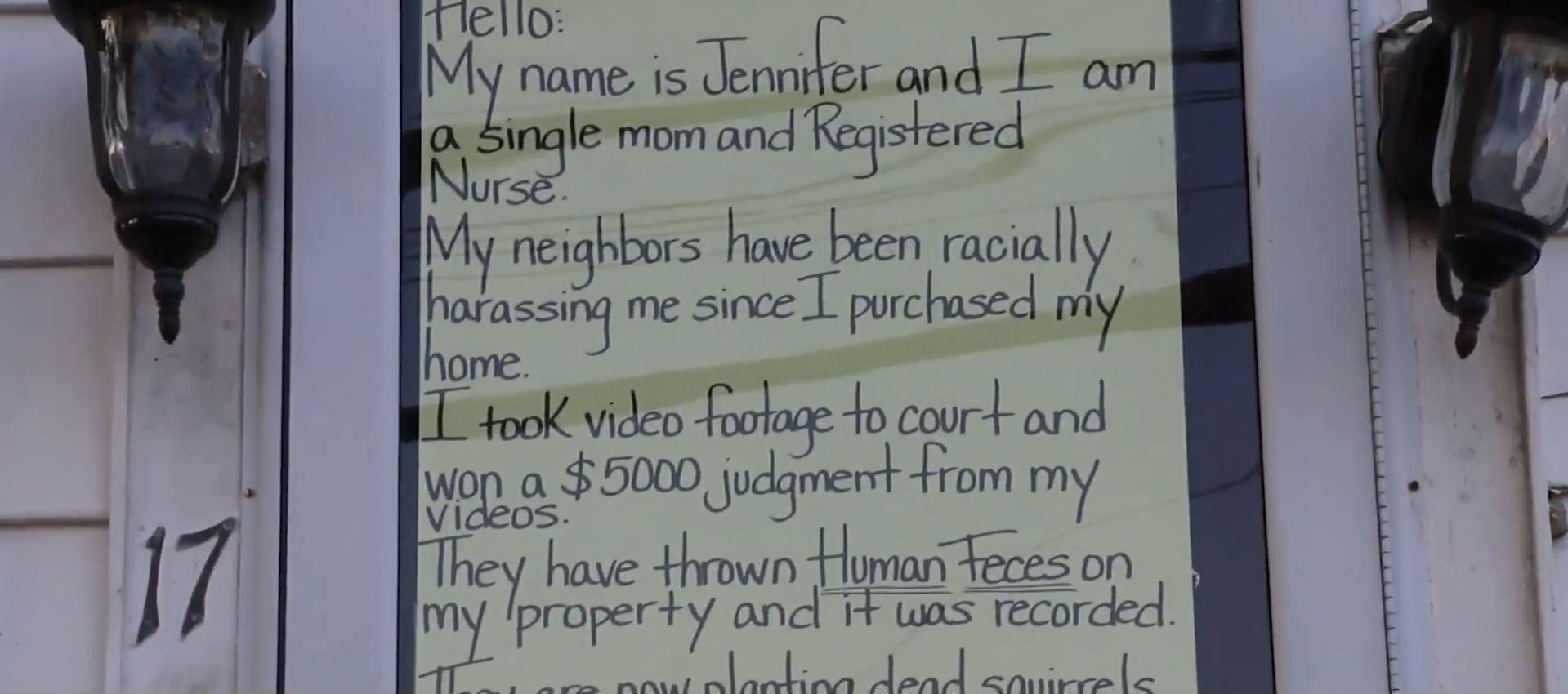 Black woman in New York claims years of racial harassment by neighbors