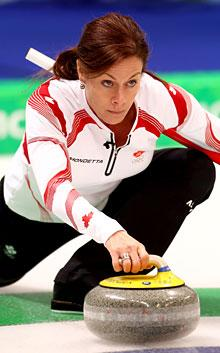Bernard makes curling very attractive