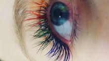 'Cílios de sereia' viram tendência e traz visual colorido para os olhos