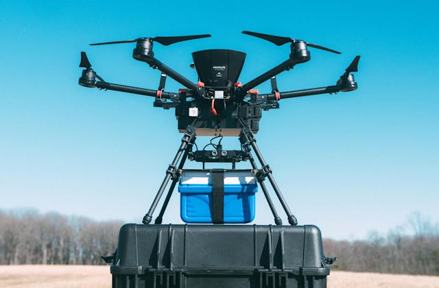 Drones can safely carry blood bags
