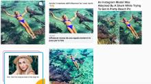 """La joven a la que mordieron unos tiburones con los que posaba responde a quienes creen que es una """"estúpida modelo rubia de Instagram"""""""