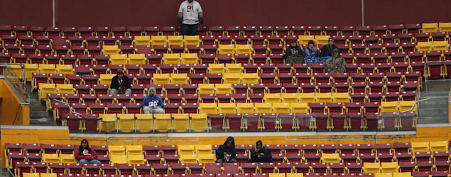 Fans have finally turned their backs on the Redskins. (AP)