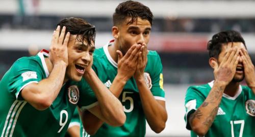 Raul Jimenez, Diego Antonio Reyes and Jesus Corona
