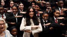 Meghan Markle Marks International Women's Day at London High School