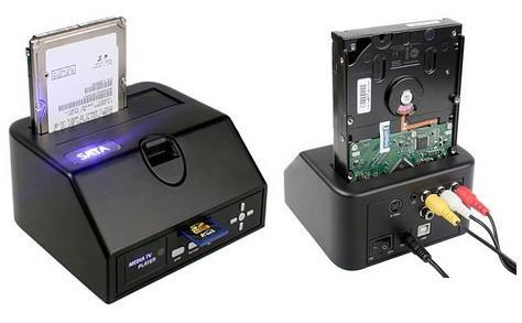 Brando's SATA HDD Multimedia Dock includes video-out, media player