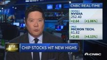 Chip stocks hit new highs