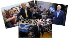 Candidates bow to coronavirus fears after shrugging them off for weeks