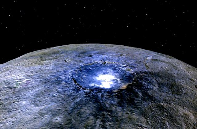NASA gets to the bottom of Ceres' glowing spots