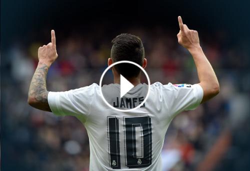 VIDEO: Real Madrid homenajea a James