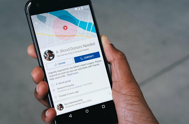 Facebook wants to simplify blood donor searches in India