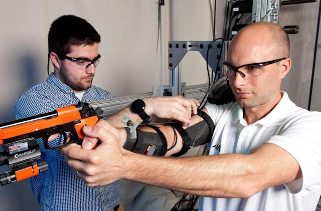 Army exoskeleton prototype helps soldiers learn to shoot