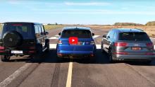AMG G63、Range Rover Sport SVR 與 Audi SQ7 注目 Drag Race 對決登場