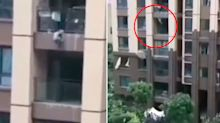 Toddler saved by blanket after falling from six-floor apartment