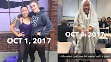 This student is dressing up for Halloween every day of October