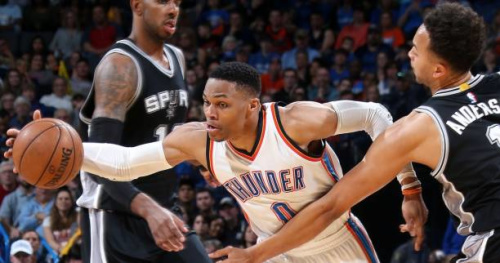 Basket - NBA - San Antonio plus fort que Russell Westbrook