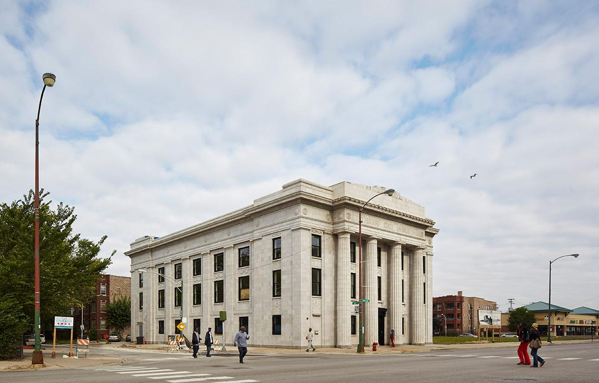 <p>The Arts Building is a brave example of how one good renovation can revitalize an entire neighborhood, especially an area that's underserved and under-utilized. Bravo to Gates and the makers who made this happen. <i>(Photo: Tom Harris/Rebuild Foundation)</i><br></p>