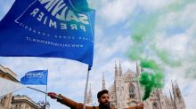 Italy's League rallies in Milan as tense election campaign winds up