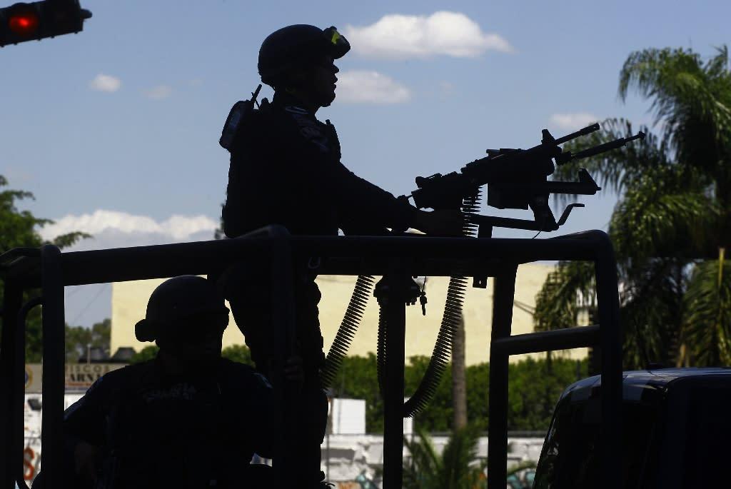 Mexican police patrol the streets of Guadalajara