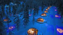 This is a once-in-a-lifetime way to see the Northern Lights—from a glass igloo hotel