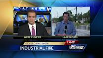 Cause of industrial plant fire under investigation