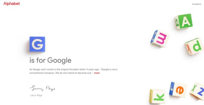 Google gets an overhaul and a new CEO: Sundar Pichai
