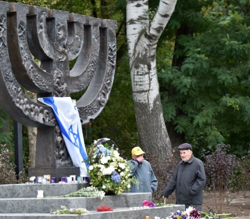 Sombre Ukraine marks 75 years since Nazi slaughter of Jews
