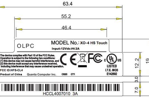 OLPC XO-4 surfaces at the FCC, right on cue