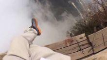 Hiker films himself on 'world's most dangerous trail'