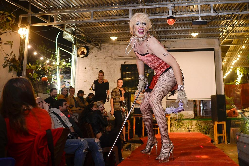 The drag queens who turn out for the parties say they have few places to perform in a city where cross-dressing is almost unheard of, unlike in the West where starlets like RuPaul have helped to popularise it (AFP Photo/James Duong)