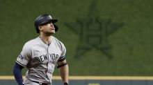 ALCS Game 2: Quad injury keeps Giancarlo Stanton out of Yankees lineup