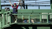 Fan breaks into Fenway Park during Red Sox game, starts throwing stuff onto field