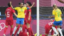 Sweden stun US, Brazil rout China at Games