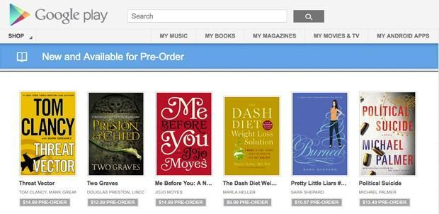 Google Play store now accepting pre-orders for books, bibliophiles rejoice