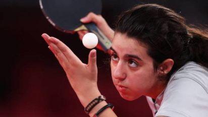 JO - Tennis de table (F) - La pongiste Hend Zaza, 12 ans, plus jeune athlète aux JO depuis 1968
