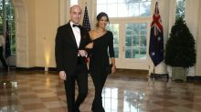 Trump attends wedding of White House aides