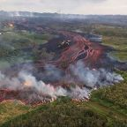 Man struck by flying lava amid warning Hawaii volcano eruption could cover island in noxious plume