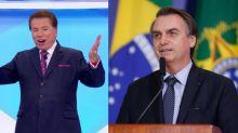 Bolsonaro visita SBT para gravar com Silvio e equipe é tietada nos corredores