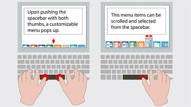 Synaptics' touch-sensitive space bar speeds up your writing