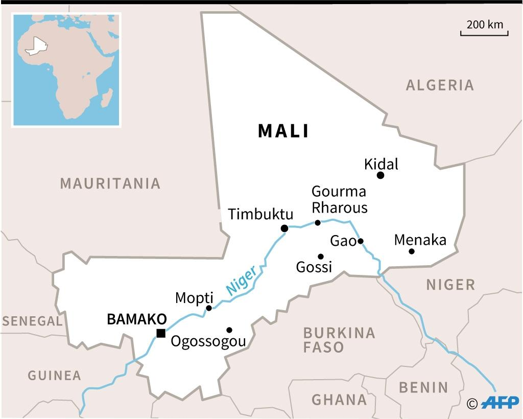 Map of Mali (AFP Photo/Vincent LEFAI)