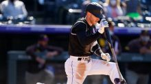 Fuentes, Rockies split doubleheader with virus-short Padres