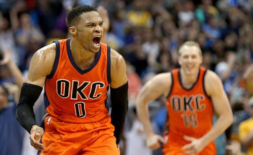 Com Russell Westbrook voando, Oklahoma City Thunder paga mais que o dobro