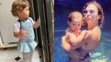 """Tatá Werneck brinca com a filha: """"Com 5 anos terá minha altura"""""""