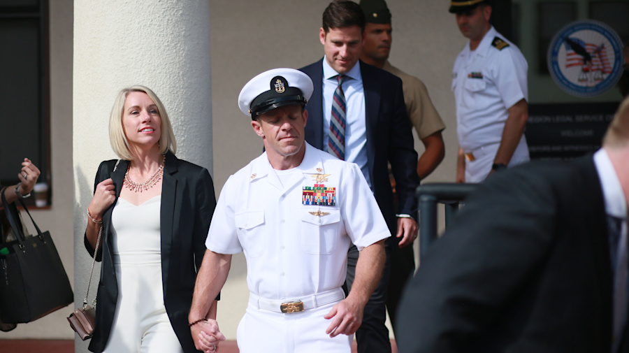 Trump says he will block dismissal of Navy SEAL