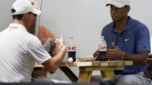 Just like us: Tiger and Rory play 18 and then grab a burger