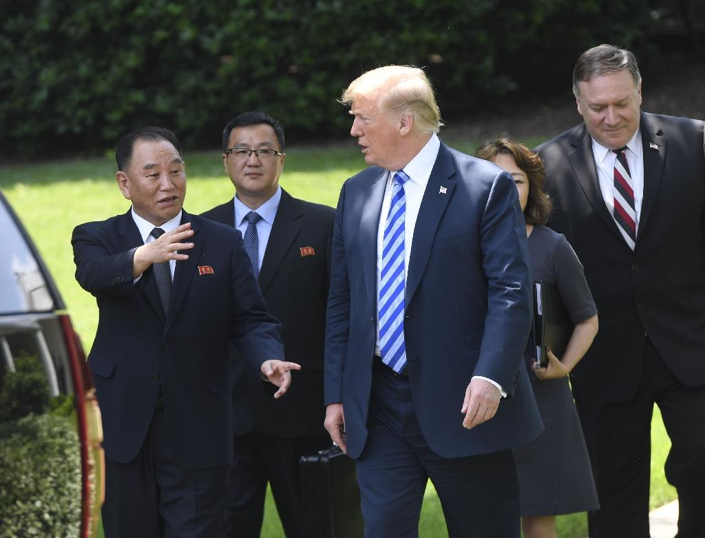 US President Donald Trump confirmed that he would meet Kim Jong Un on June 12 after meeting a top North Korean envoy at the White House (AFP Photo/Saul LOEB)