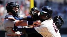 Miguel Sano ejected for throwing punch during melee between Tigers and Twins